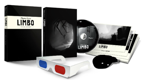 videogamenostalgia:  Limbo Gets Retail Collector's Edition For PC And Mac Even if you already own Limbo on the 360, PS3, PC or Mac by getting it separate (or as part of the Humble Bundle for those of you who downloaded), consider this: Limbo has a special collector's edition now! The collector's edition includes a DRM-free copy for the PC/Mac, soundtrack, seven special art cards, a sticker of the lead character, a set of 3D glasses, and a Steam gift key. It retails for $24.99 and it available at Amazon and many other retailers now!