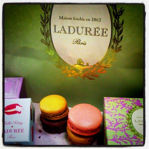 Pretty macarons at Laduree NYC! Me = sucker for cute packaging (Taken with Instagram at Maison Ladurée)