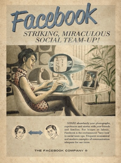 Retro Ads For Social Media Websites