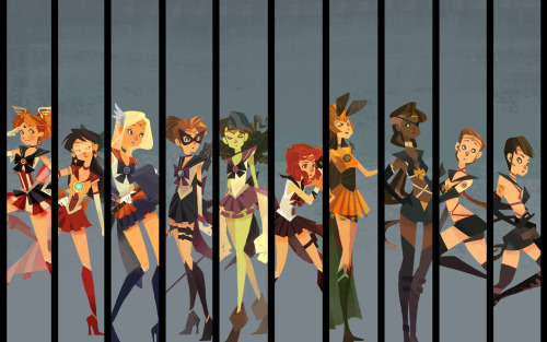 Sailor Avengers Wallpaper Pack by ~nna