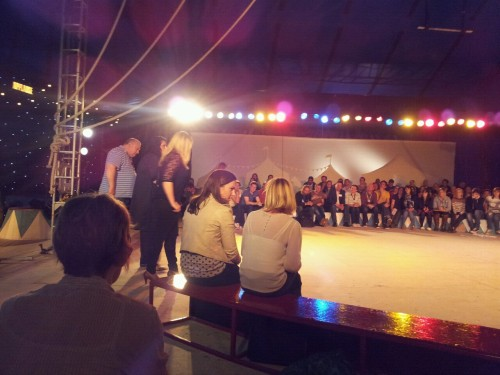Spent this afternoon in a big top! Sometimes work isnt too bad :)