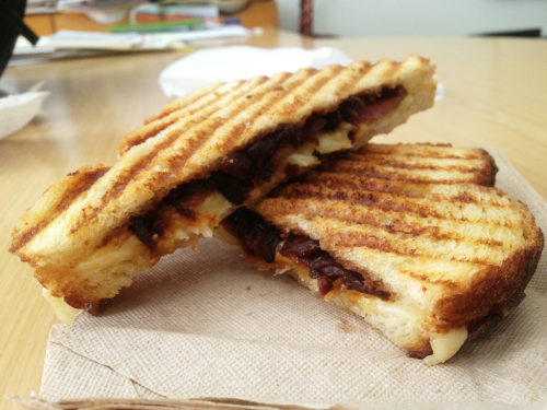 Bacon Cheddar Blue from Milk Truck, Tuesday's food truck at the Library. Eaten by Deanna Lee, Vice President of Communications and Marketing Have you submitted your lunch photo yet? It takes 10 seconds!