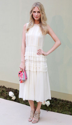 Poppy Delevingne in Jonathan Saunders in Madrid