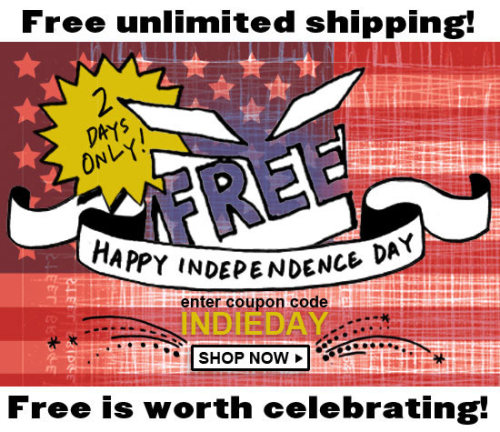 Add free shipping to the list of things you celebrate this Independence Day. Because free is worth celebrating! Now through July 4, enjoy free unlimited shipping on Powells.com when you use coupon code INDIEDAY at checkout. No minimum purchase is required, and you can use the code as many times as you like.