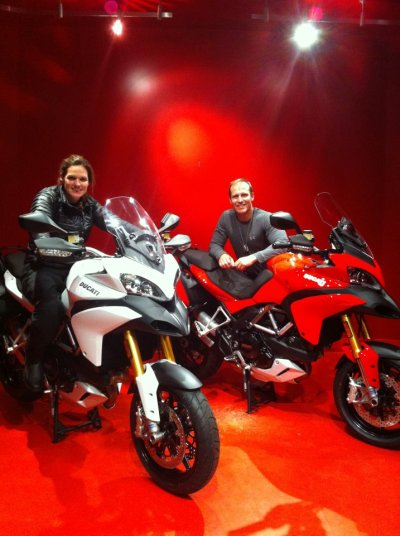 Germaine and Mike got his and her Multistradas at MotoCorsa! How amazing is that?