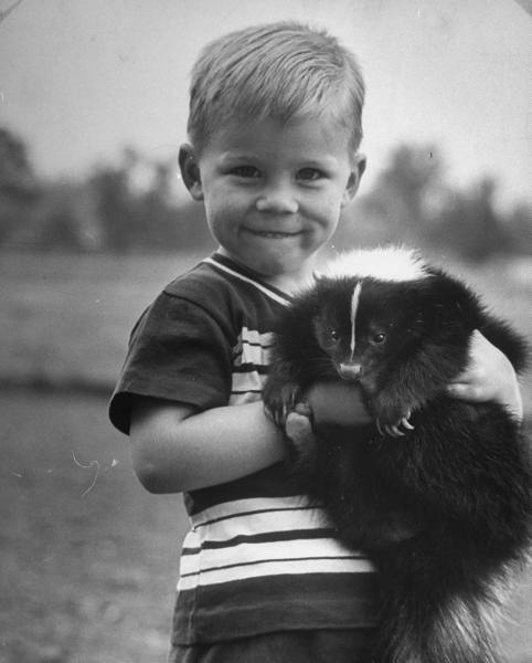 thereisnoforgetting:  Carl Mydans - A little boy holding his new friend, USA, April 1952