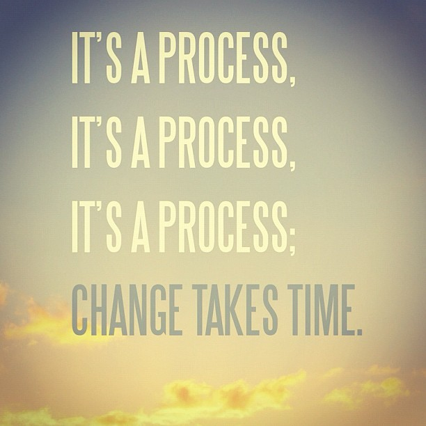 prettyandfit:  Change takes time, just remember that next time you want to give up! (Taken with Instagram)