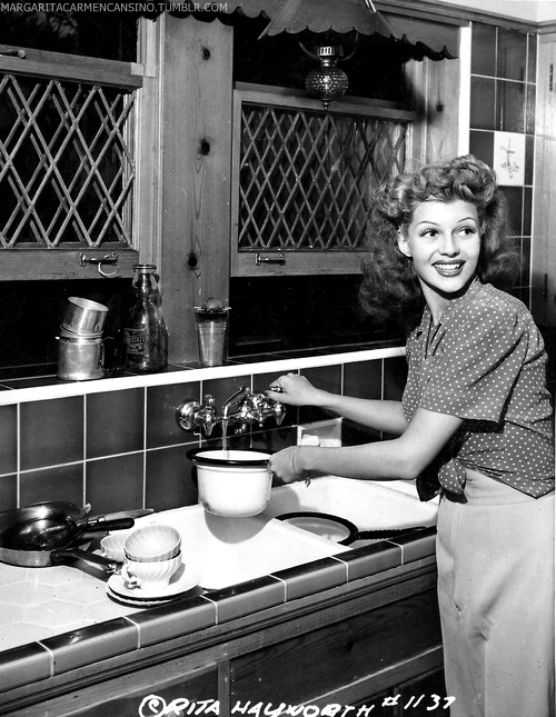 margaritacarmencansino:  Rita Hayworth at home, 1942