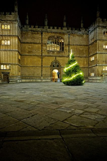 beautifuloxford:  Bodleian Library at Christmas, Oxford by sdhaddow on Flickr.