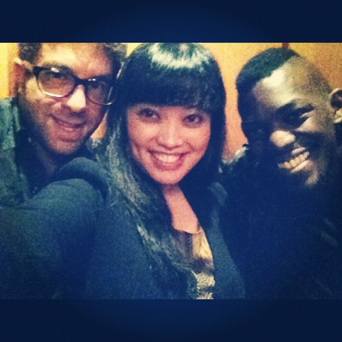 Last night #2: great meeting/hangin y'all! @elliotyamin & @williamfwells (currently on tour w. LMFAO). (Taken with Instagram at Hotel Cafe)
