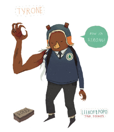 new leeroy and popo drawings/designs. 04: Tyrone. leeroys little brother. hes got a bit of trouble with school bullys..