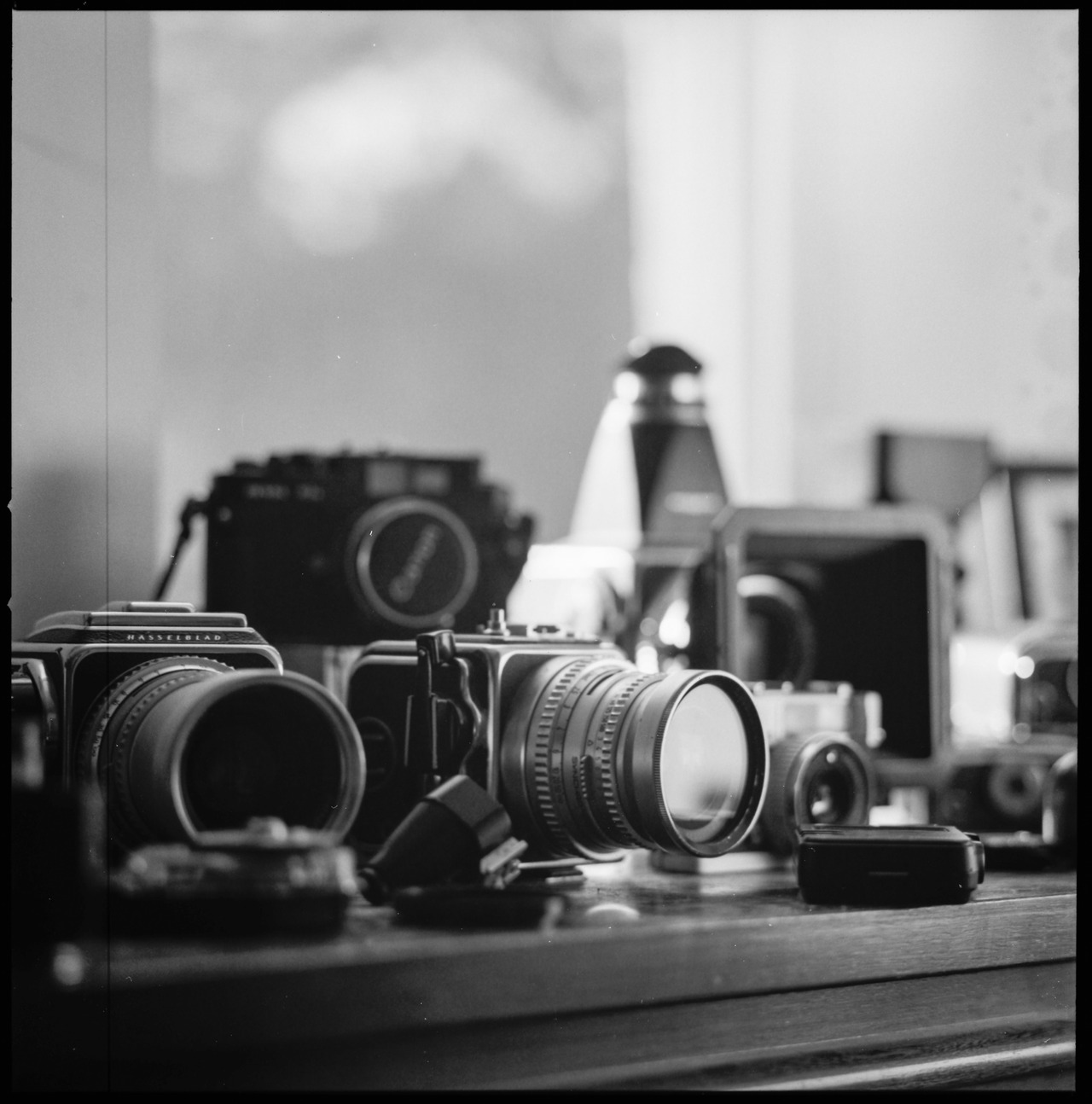 Tools Hasselblad 500C/M Zeiss Prontor CF T* 80mm f/2.8 Ilford Delta Pro 100 in HC-110 B CanoScan 8800F