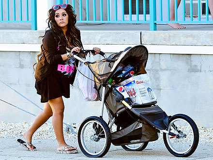 "peoplemag:  ""Pregnancy made me grow up a lot."" - An expectant Snooki, who was caught on a beer run in Seaside Heights, N.J., to reporters back in April"