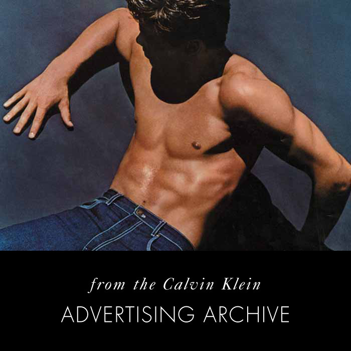 Blue. Calvin Klein Jeans, 1981. From the Calvin Klein Historical Advertising Archive; Photo © Bruce Weber