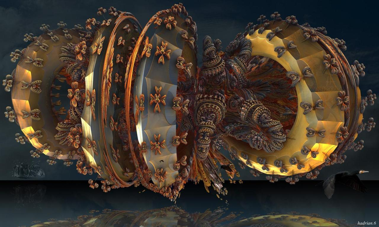 Baroque furniture tornado. by Mandelwerk.    http://hadrian6.tumblr.com