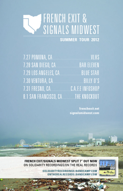 Very psyched to be doing all of our California shows with The French Exit this summer.