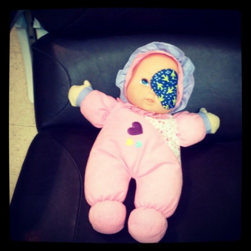 #baby got an #eyepatch (Taken with Instagram)