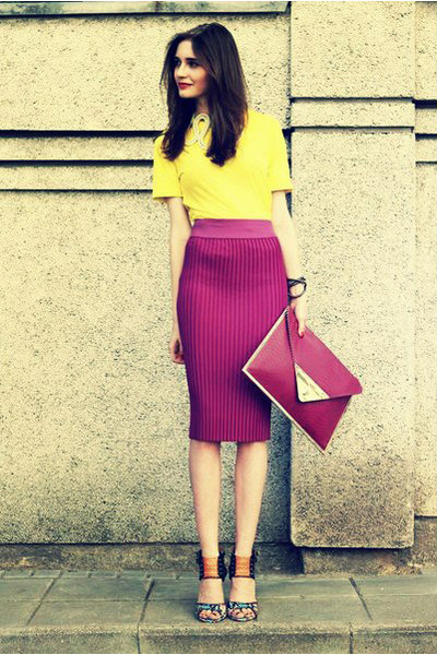 cherichictopia:  YELLOW AND MAGENTA - via CHICTOPIA