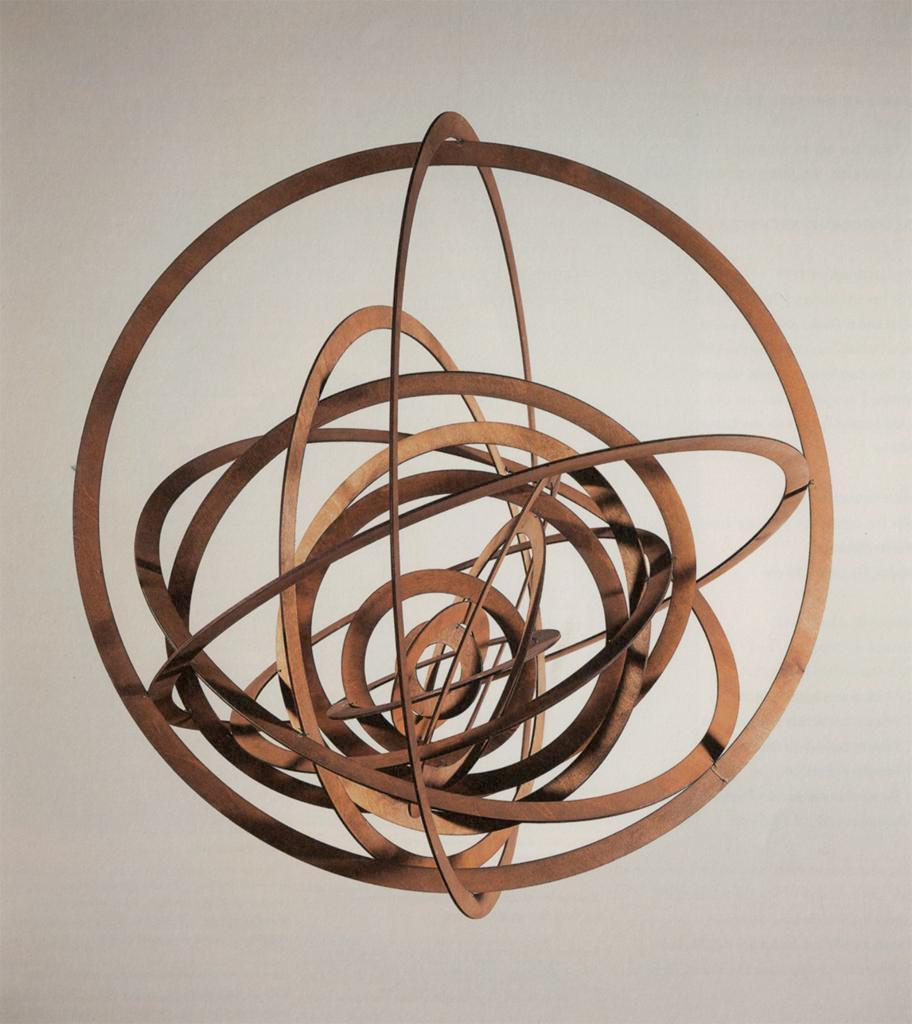 Aleksandr Rodchenko, Oval Hanging Spatial Construction Number 12 Plywood with aluminum paint 1920