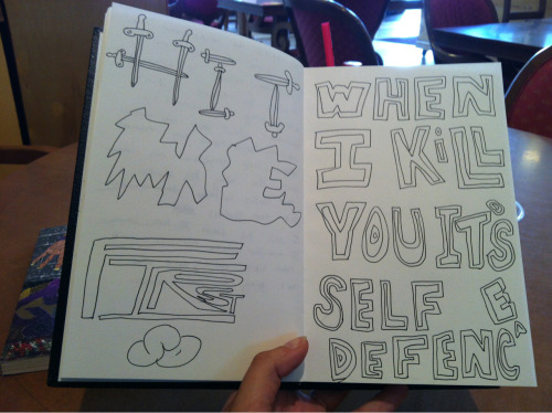 fuckandkill:  Hit me first so when I kill you it's self defense (spelt wrong)