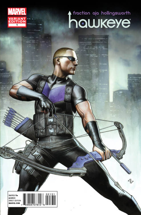 Hawkeye #1 cover by Adi Granov. THUMBERS UP! I'm pretty dang hyped for this series! Matt Fraction & David Aja? GIMME.