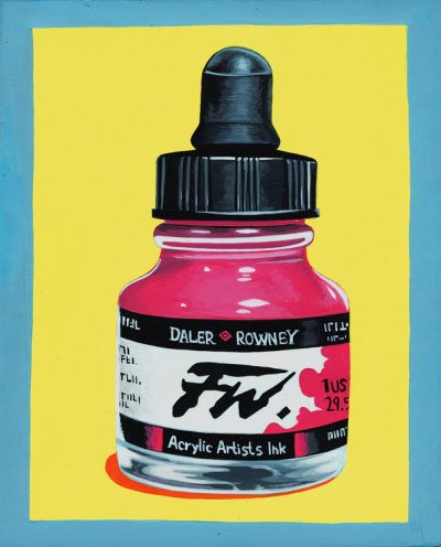 "Acrylic Ink on 8x 10 in. Illustration Board. ""What brand of acrylic ink do you use?"""