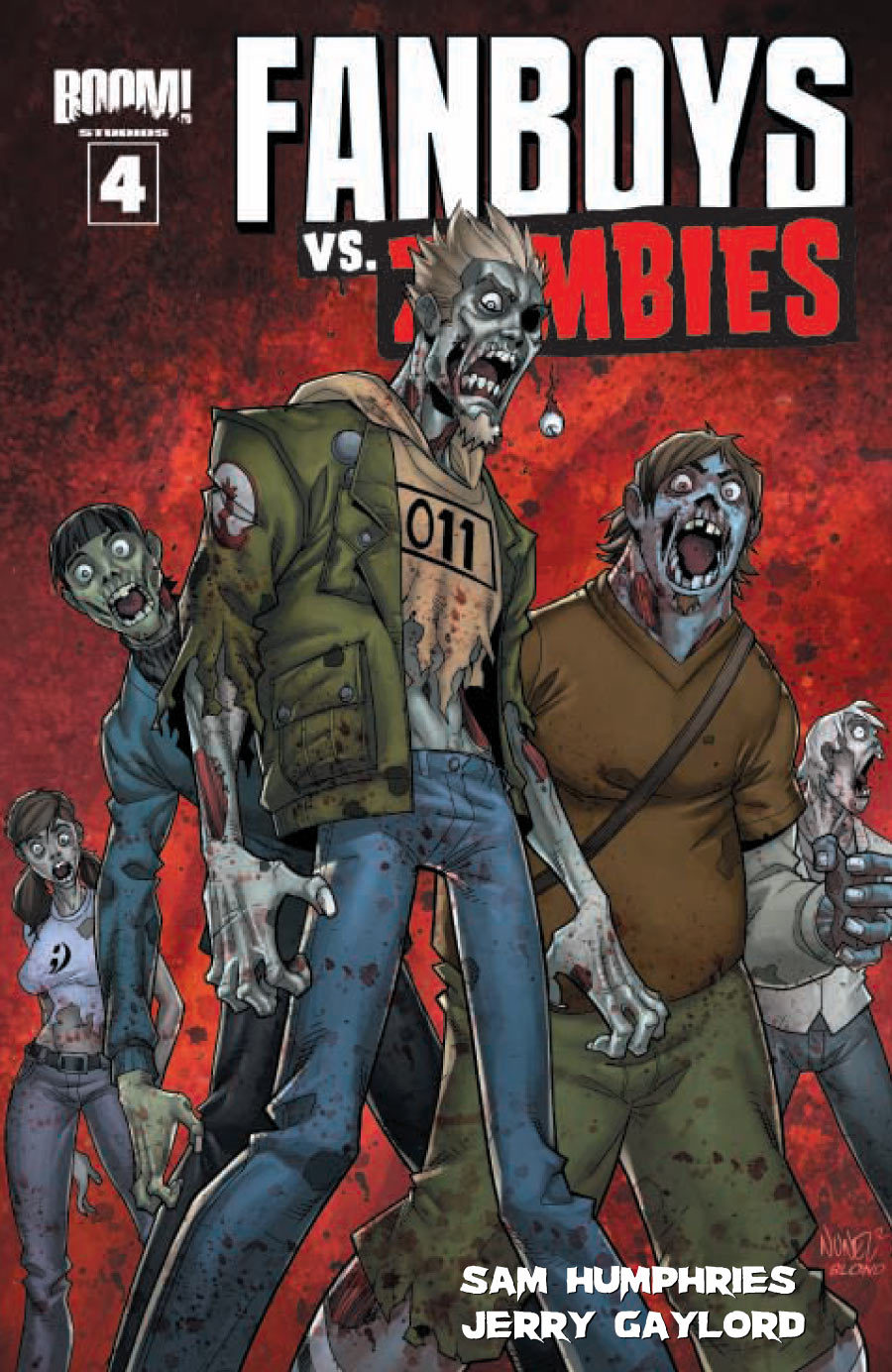 Exclusive preview of Fanboys vs Zombies issue 4 now up at Comic Book Resources! FANBOYS VS. ZOMBIES issue 4 The issue where everyone gets some ON-SALE WEDNESDAY, JULY 4