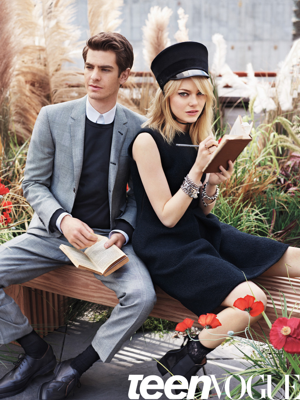 "teenvogue:  August cover stars Emma Stone and Andrew Garfield talk about filming The Amazing Spider Man, Emma's least favorite interview question and Andrew's unlikely ""man crush."" Read the full story from our August issue »"