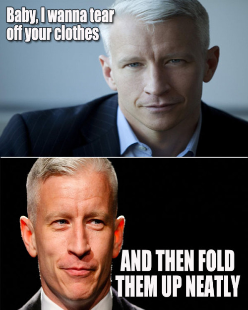 slacktory:  In case you didn't hear yesterday, Anderson Cooper came out of the closet. This made some ladies sad. But to cope with that grief, here are some fantasies where he starts off seducing a lady and then it takes a turn! See 'em all at Straight Sexual Fantasy Anderson Cooper Wants Your Body (Really) by Alyssa Kramer on Slacktory.com.
