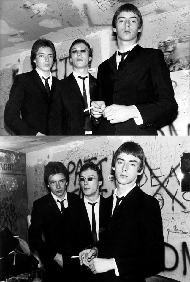 zombiesenelghetto:  The Jam backstage at CBGBs, photos by Ebet Roberts 1977