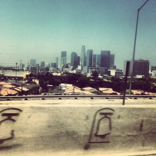 dirty window. dirty city. (Taken with Instagram at Los Angeles County Mental Health)