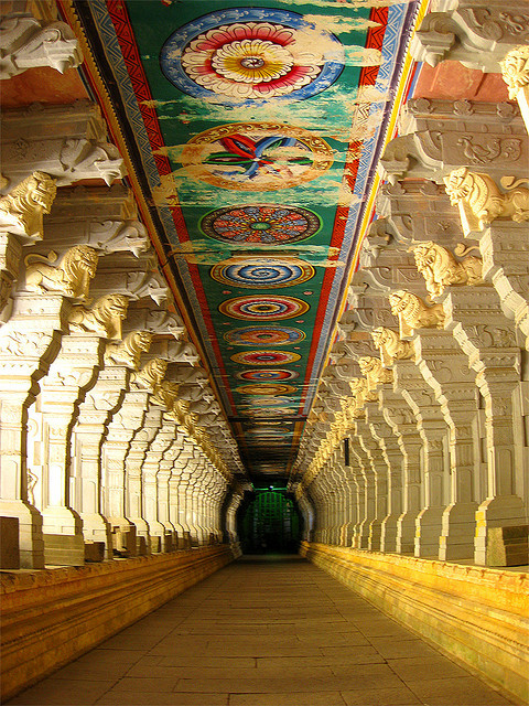 visitheworld:  Corridor of Ramnathswamy Temple, the largest in the world in Rameshwaram, India (by ind{yeah}). This is why I want to travel the world