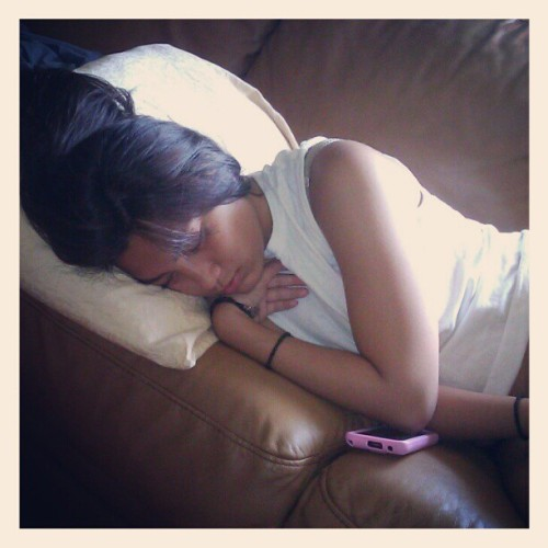 My nigga @stephanienguyennnn smoked a dub to herself then KO'd (Taken with Instagram)
