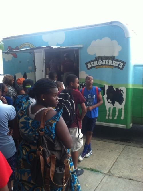 Ben & Jerry's put their ice cream where the movement moves. #OWS #Natgat Franklin Square http://4sq.com/8wyJPu