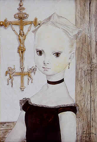 Portrait of a Girl by Foujita