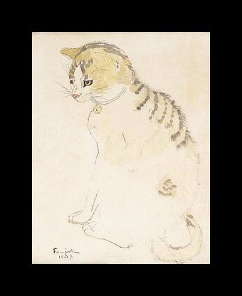 Cat by Foujita
