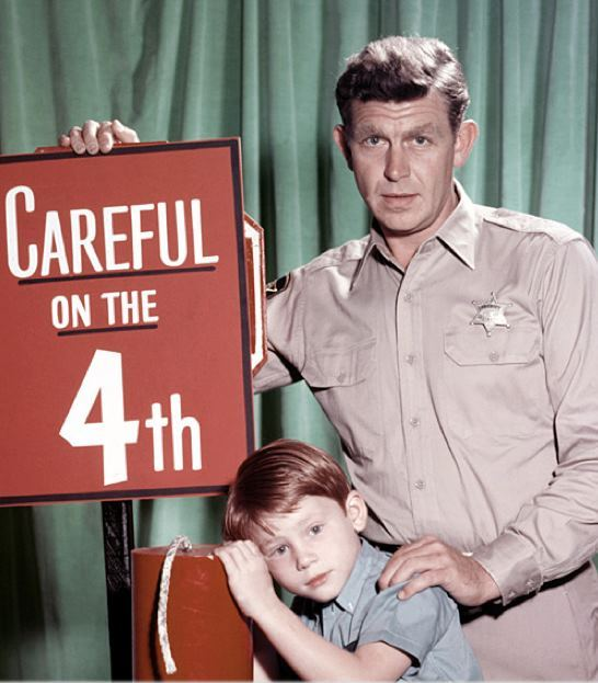 retrogasm: Andy Griffith says: Careful on the 4th via