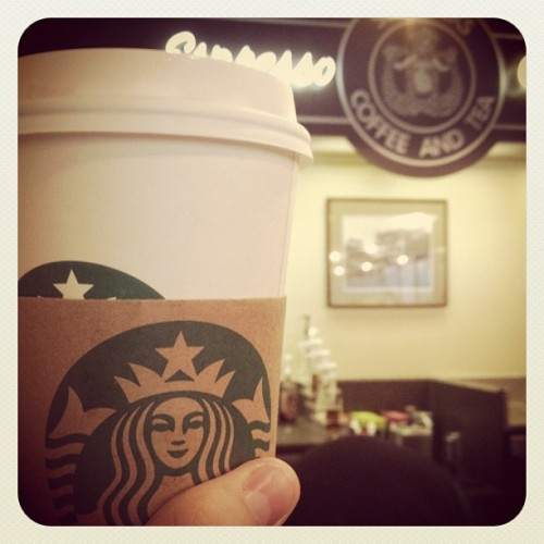 Coffee in the first ever Starbucks! (Taken with Instagram at Starbucks)