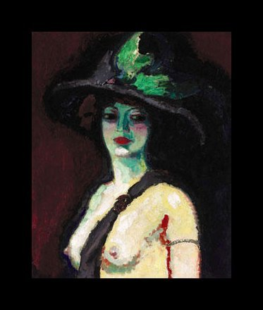Woman with a Large Hat, 1906; by Kees van Dongen