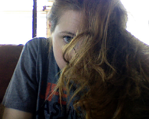 My hair after an all day bun.  And it still smells Fructis fabulous!