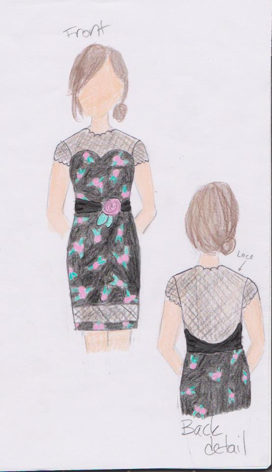 Dress I designed for Modcloth's Make The Cut contest