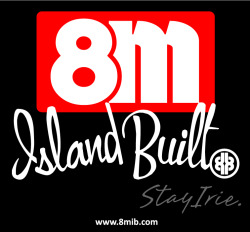 8M ISLAND BUILT™ | STAY IRIE™ 8M ISLAND BUILT™ is one Island/Mainland lifestyle crossover brand for Locals and Islanders livin' dat Island Lifestyle on one Island or on da Mainland. 8M™ mark represents Island State of Mind. Heavily influenced by Hawaii. Da number 8 is da number of Islands dat makes up da Hawaiian chain. Also, in numerology, da number 8 is da first number of 'Free Will' in which we are relating it to dat Islander 'I No Kea' or Care Free attitude. No matter Islanders stay or move away to da Mainland for school, pursue one career or for wateva reasons… da attitude and lifestyle will always stay with dem. DA HASHTAG/POUNDER LOGO is da symbol for Islanders who like pound any kine. STAY IRIE™ is our motto. IRIE (I-rie/I'-ree) - Positive emotions or feelings. Good Vibes. Everything is alright. It's da feeling when you no mo worries. 8M ISLAND BUILT is for wateva 'Island State of Mind' you're in. Stay Irie™.  www.8MIB.com