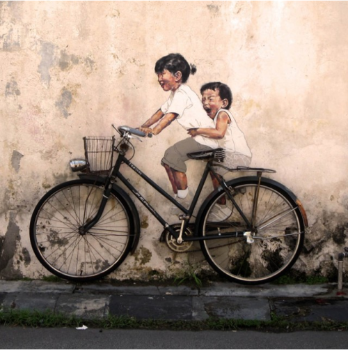 Interactive Paintings on the Streets of Malaysia via Colossal.