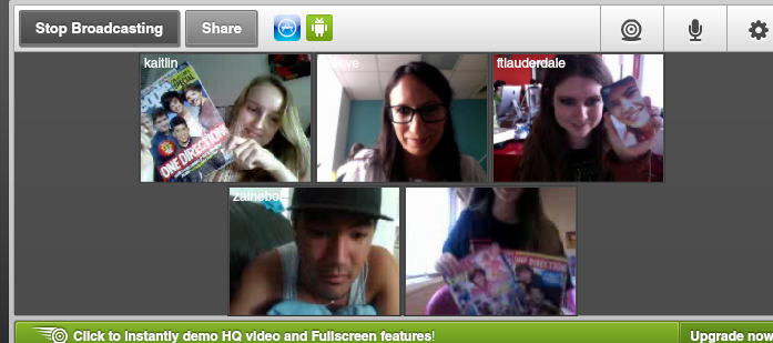 jessbennett:  Just a typical day at the office… Tinychatting with teenagers. #yepimatweencorrespondent