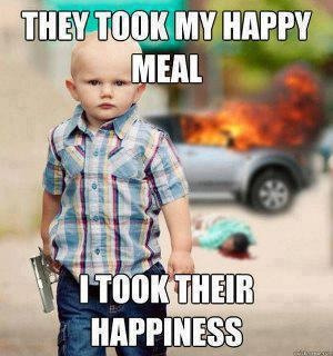 #they #took #my #happymeal #I #took #they #happiness #boy #kid #children #car #bang #pistol #in #his #hand #smart #die