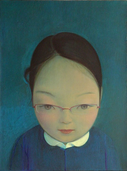 Liu Ye.  J with Glasses, 2007. Acrylic on canvas, 60 x 45 cm. SW 08433 Private Collection  Via