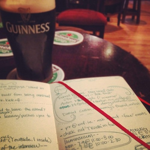 Killin time between class today… The Irish way (Taken with Instagram)