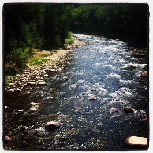 Walking with girls along river, love Vail in the Summer (Taken with Instagram at Edwards Riverwalk)