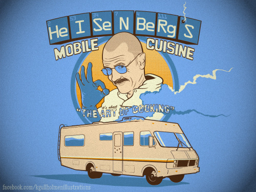 breakingbadamc:  The RV: where something delicious is always cooking (feat Maestro Heisenberg)©2011 kgullholmen illustrations