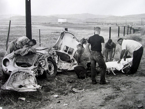 James Dean's 1955 Porsche 550 Spyder accident on California State Highway 46